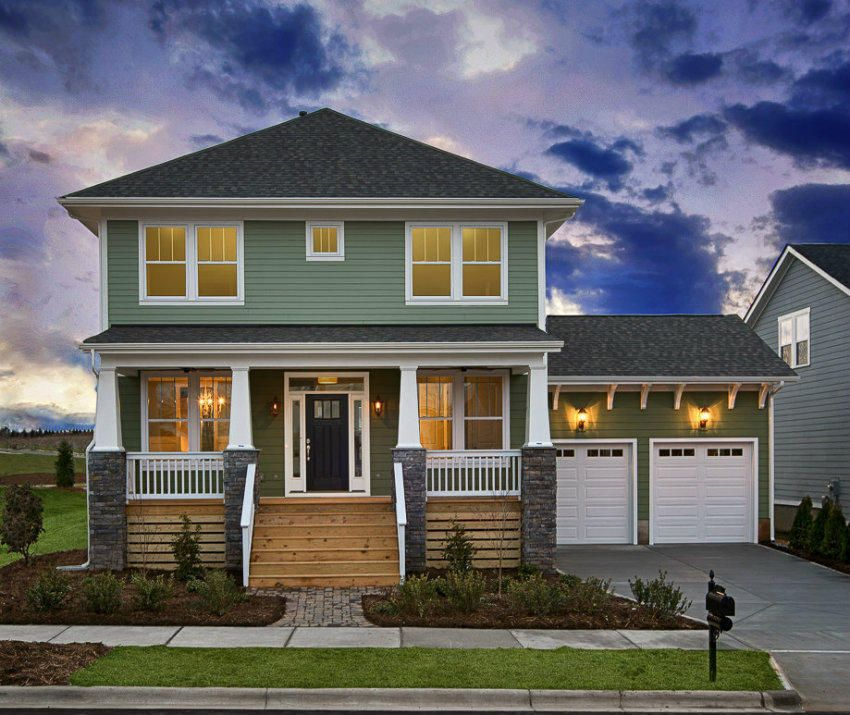 sage green house with white trim Google Search Ideas