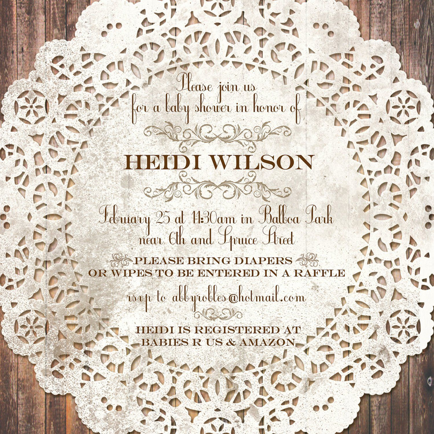 20 Vintage Baby Shower Invitations In