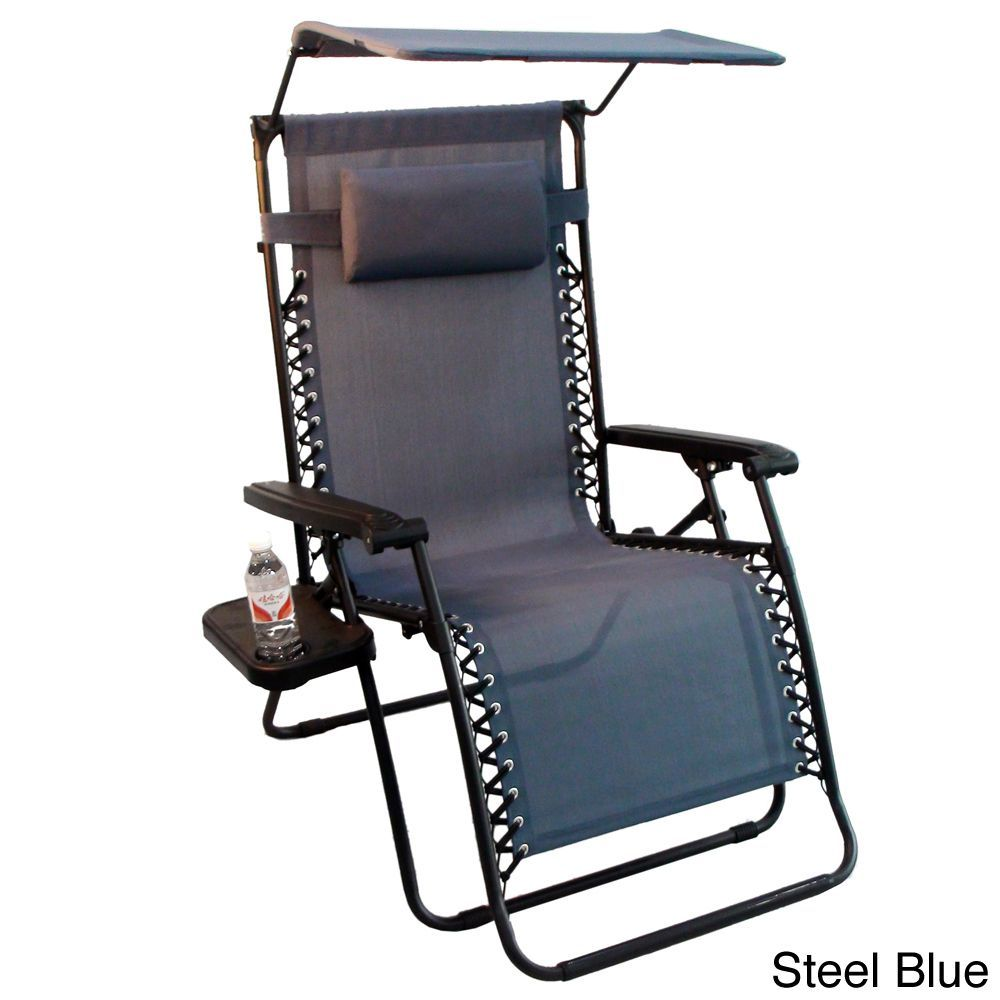 Oversized Zero Gravity Chair Jeco Oversized Zero Gravity Chair With Sunshade And Drink Tray