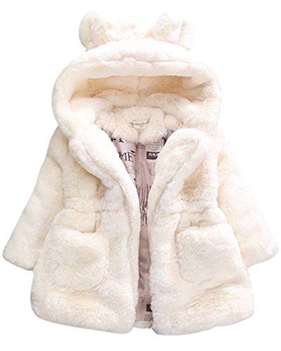 5d9f7f7f2162 SANGTREE GIRL SANGTREE Little Girl Faux Fur Coat with Ears