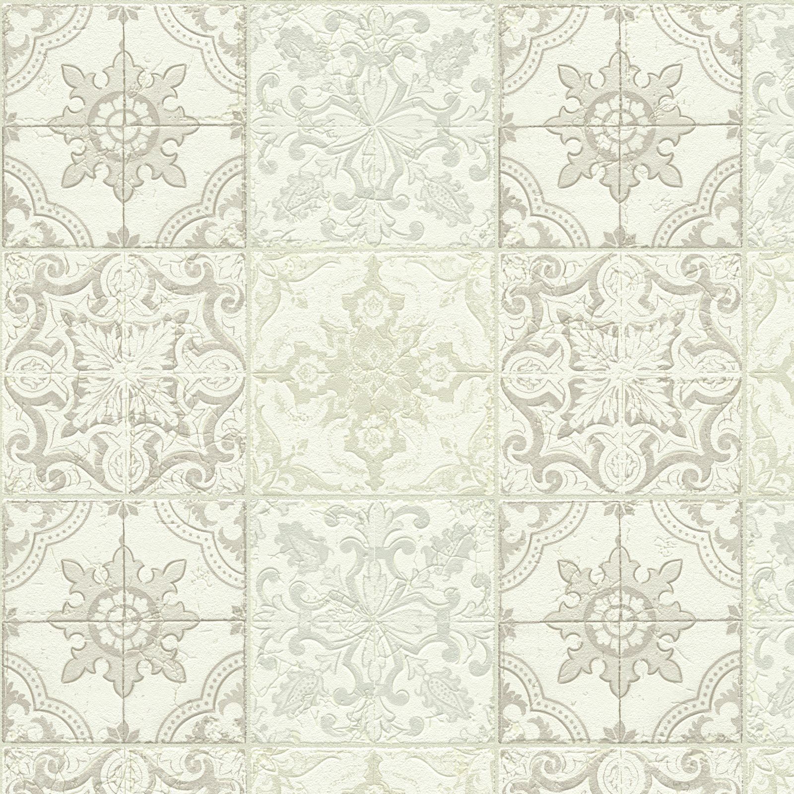 chatsworth beige cream white mosaic tile wallpaper. Black Bedroom Furniture Sets. Home Design Ideas