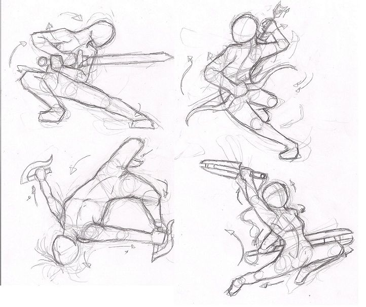 Dynamic Pose Practice Dynamic Poses Sword Poses Anime Poses Reference