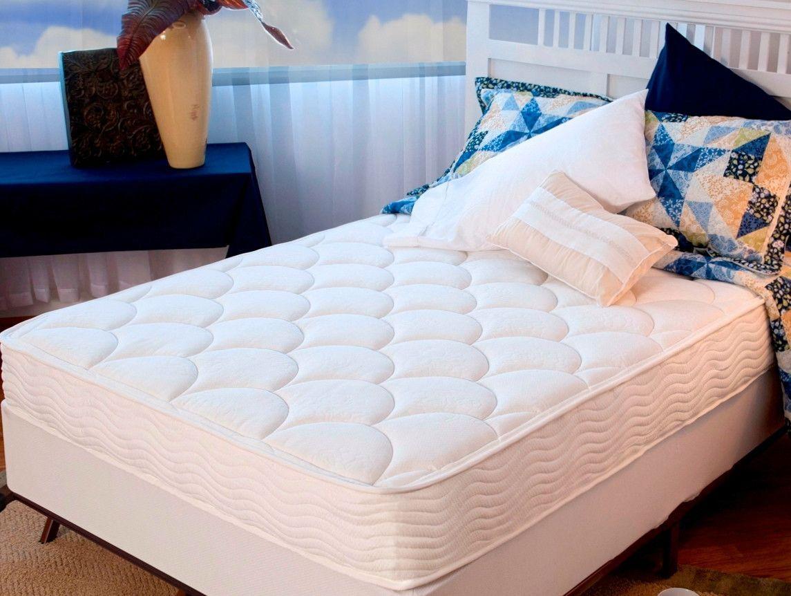 8 firm mattress tight top spring steel foundation set