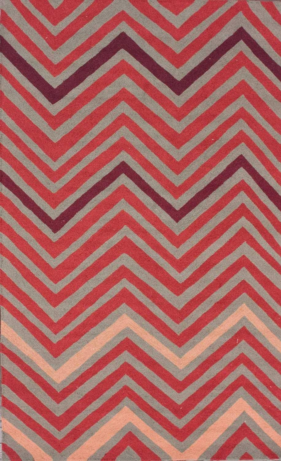Taza 100% Wool Hand-Hooked Area Rug in Fire design by NuLoom