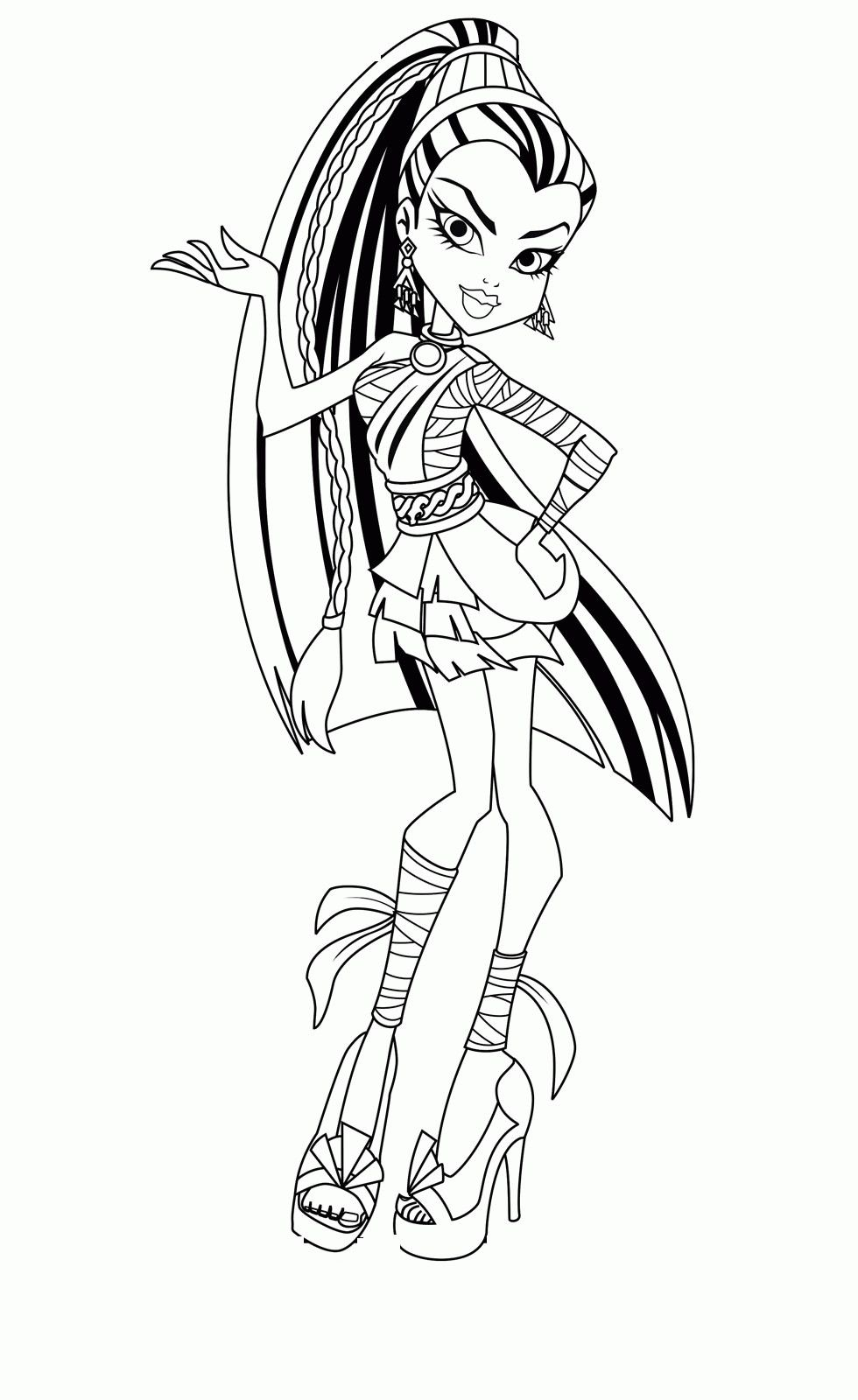 Monster High Coloring Pages Inspirational Monster High Coloring Pages Pdf Coloring Monster Coloring Pages Coloring Pages For Teenagers Coloring Pages For Kids