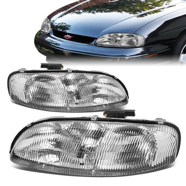 D Motoring 95 99 Chevrolet Lumina Monte Carlo Headlights Chrome Housing