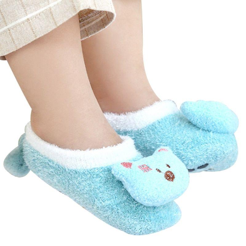 Baby Foot Socks Boy Girl Winter Shoes For Infant Toddler Kids Child Anti Slip First Walker Cartoon Animals 0 5 Year Baby Feet Winter Shoes Foot Socks