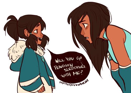 My heart just broke in anguish.  Korra arriving means Aang had to leave :(