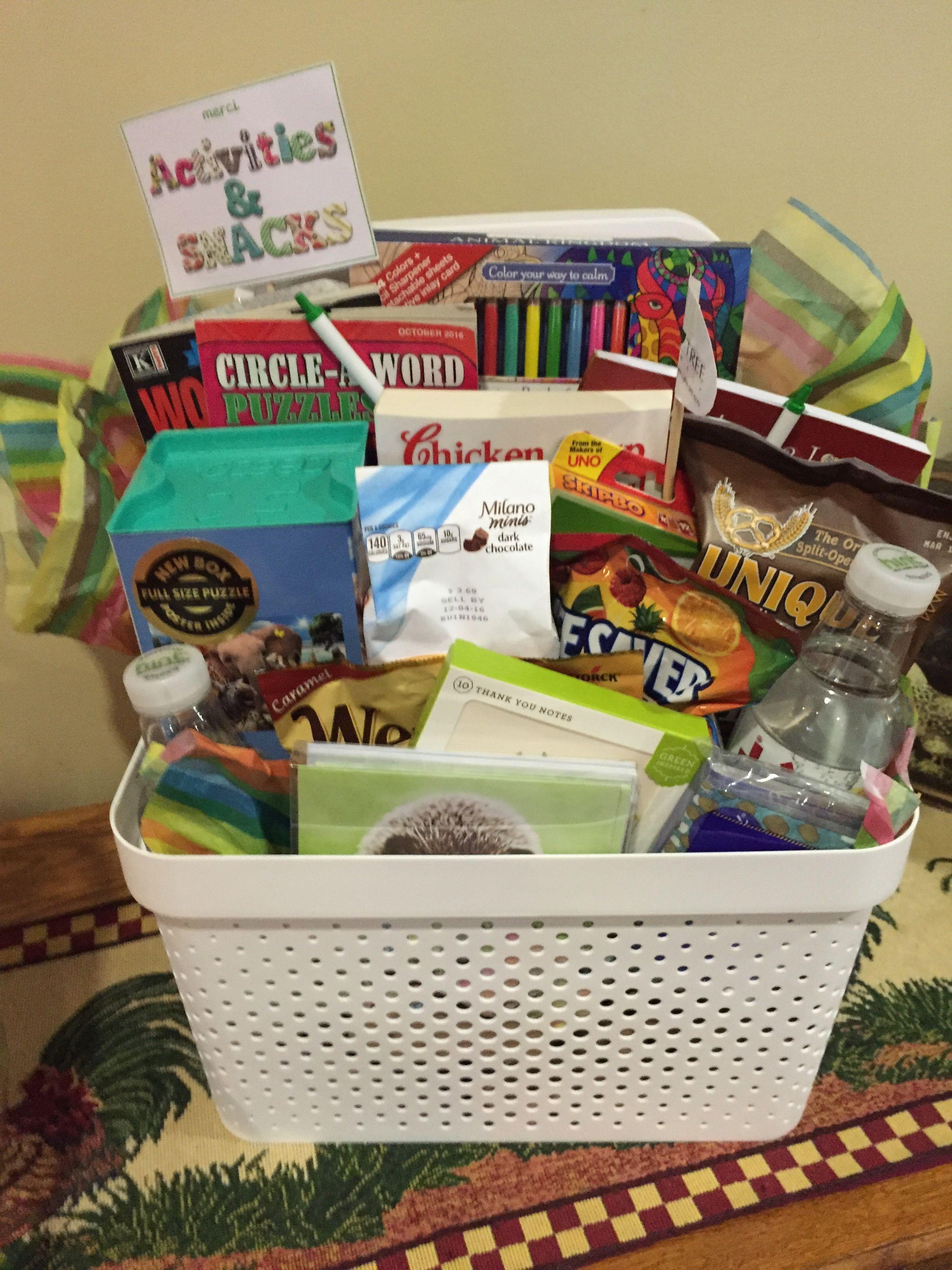 Senior gift basket