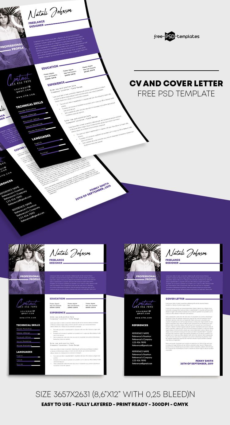 FREE CV RESUME PSD FLYER TEMPLATE in 2020 Psd flyer
