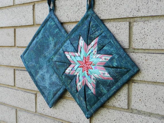 New Design Amish Folded Star Pot Holder By