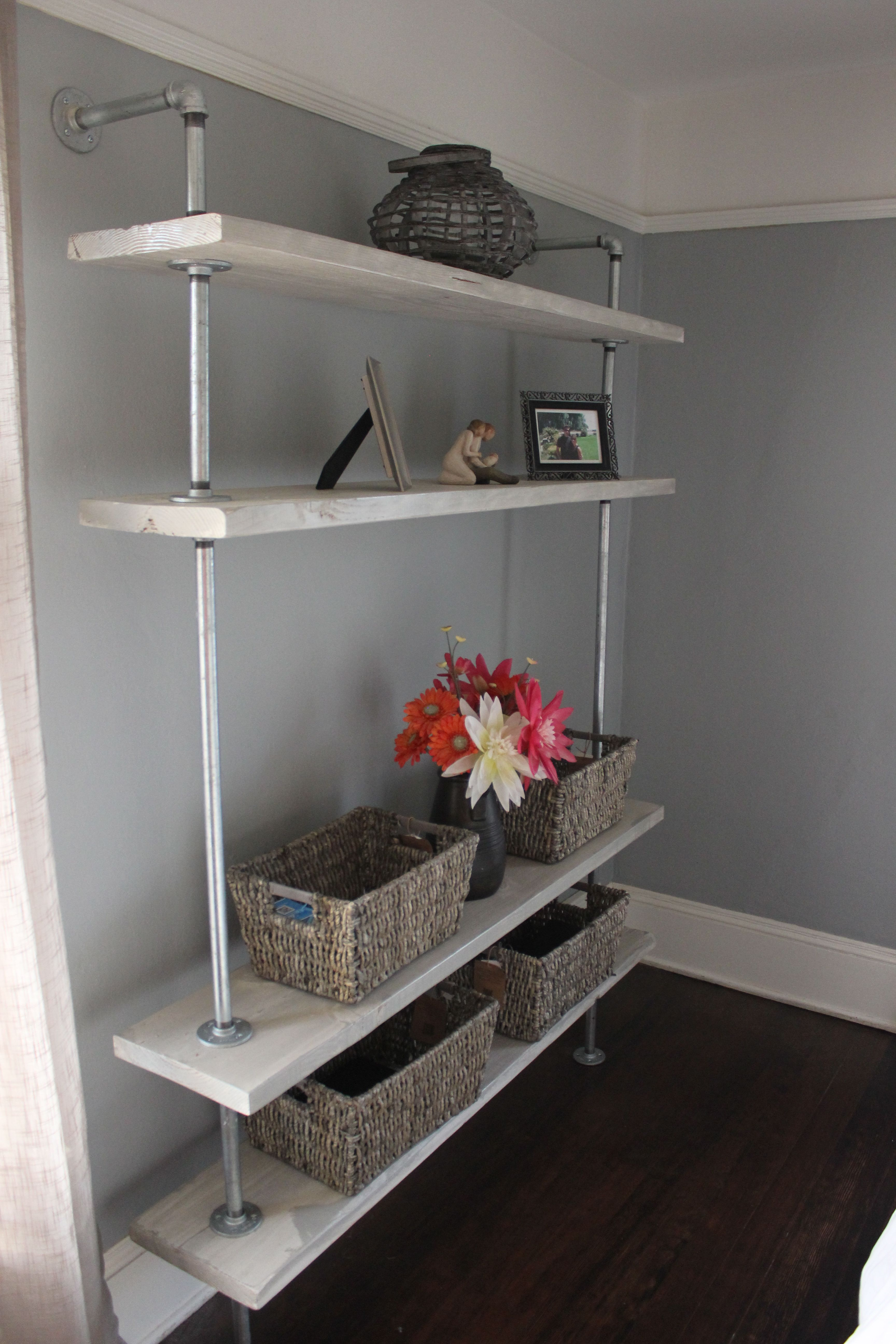 White Wall Shelves Design