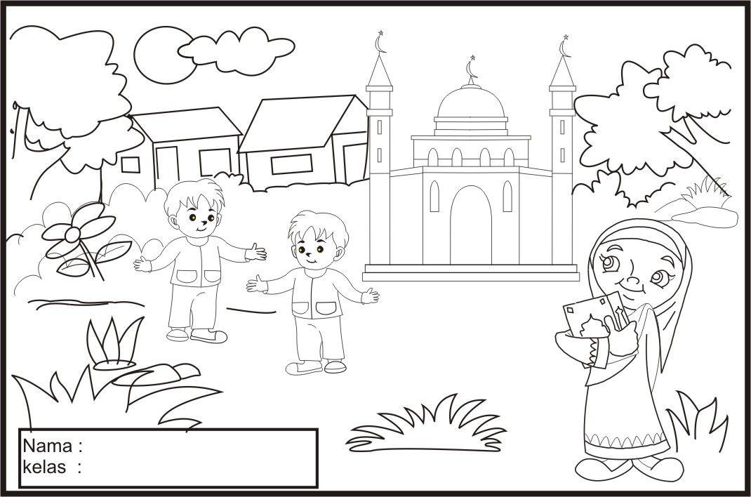 Lomba Mewarnai Untuk Anak Tk Sketsa Buku Mewarnai Warna