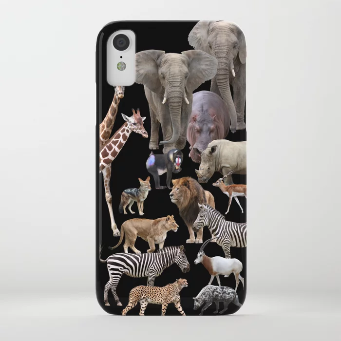 African AnimalsBlack background iPhone Case by dohshin  African AnimalsBlack background iPhone Case by dohshin  Society6