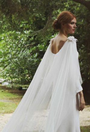 boüret mariée - vestido capa tul - boüret atelier | bodas