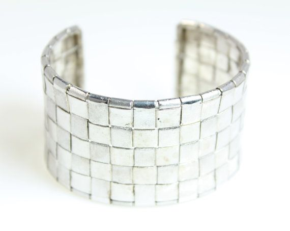 Cuff Bracelet Silver Hand Woven by KenSuJewelry on Etsy