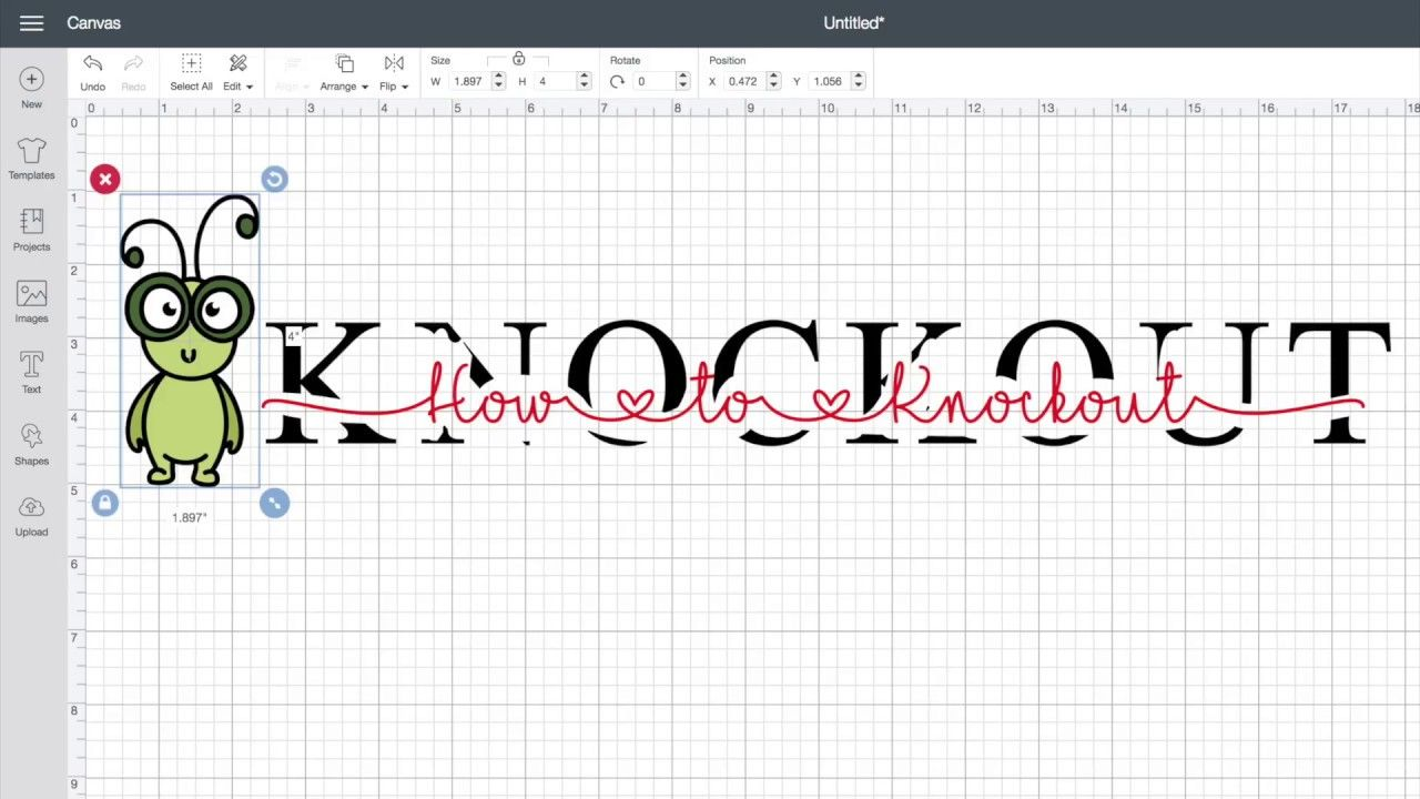 Cricut Craft Room Help: How To Make A Knockout Name Tile In Cricut Design Space