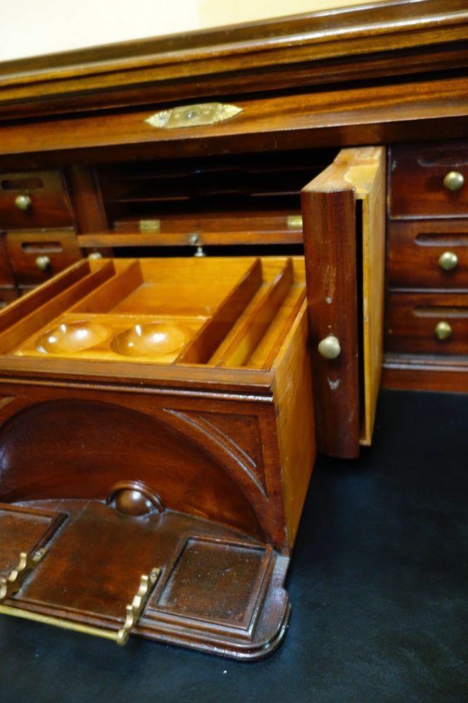 Antique Roll Top Desk A H Andrews 1800 S Magnificent Rolltop