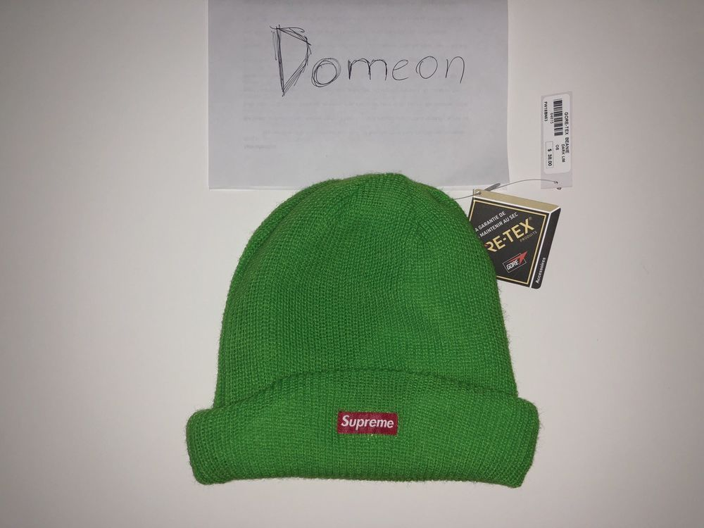 Supreme Goretex Beanie (lime Green)  fashion  clothing  shoes  accessories   mensclothing  coatsjackets (ebay link)  9d165550fec5