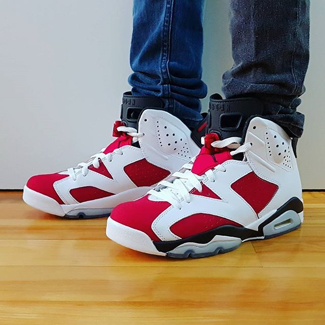 44e794cd2a5404 Go check out my Air Jordan 6 Retro Carmine on feet channel link in bio.