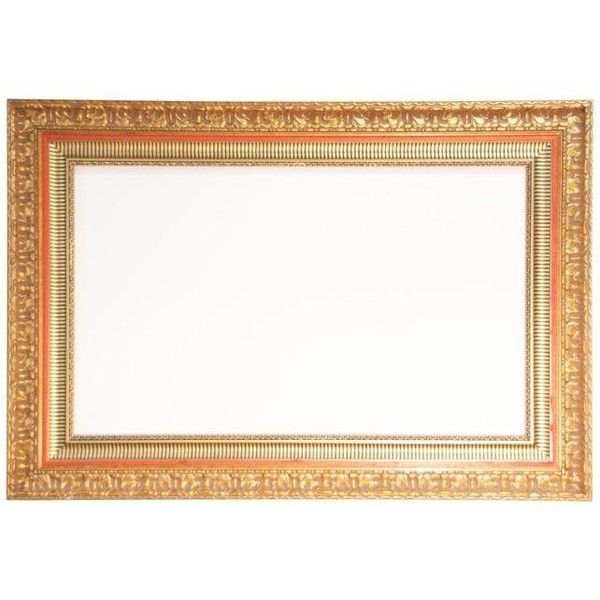 Massive Carved Gold Gilt Picture Frame ($895) ❤ liked on Polyvore featuring home, home decor, frames, borders, decorative objects, picture frame, gold home decor, vintage home decor, gold home accessories and gilt frames