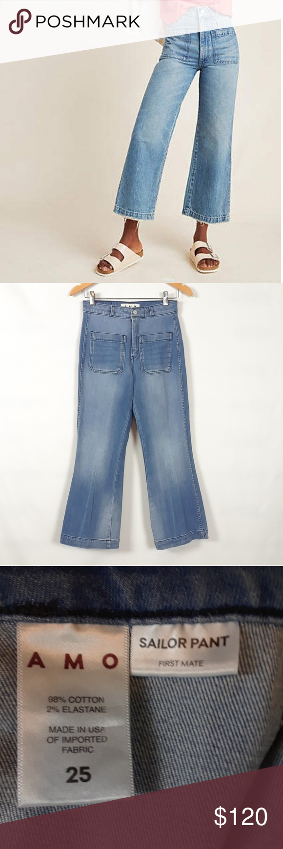 Anthropologie Amo Sailor High Rise Jeans Size 25 High Rise Jeans Sailor Pants Clothes Design