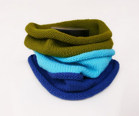 Knitting Pattern Pdf Tricolor Hooded Cowl Womens Cowl Mens