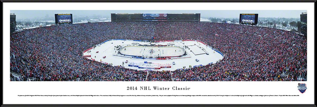 8efba1095 2014 Winter Classic Panoramic - Big House - Toronto Maple Leafs   Detroit Red  Wings  99.95