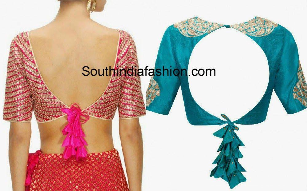 20 stylish latest tie back blouse designs blouse designs