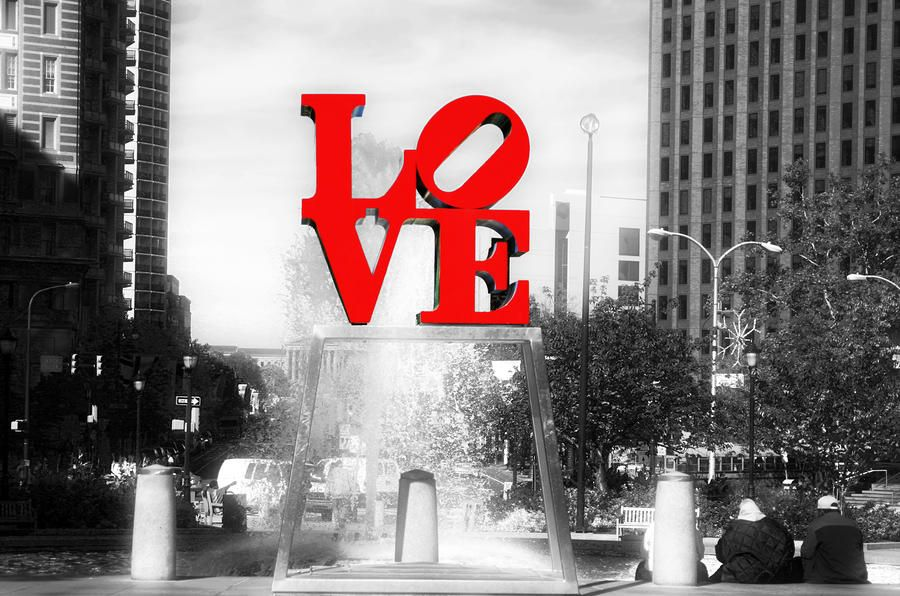 The Love Statue In Love Park In Philadelphia Love How The