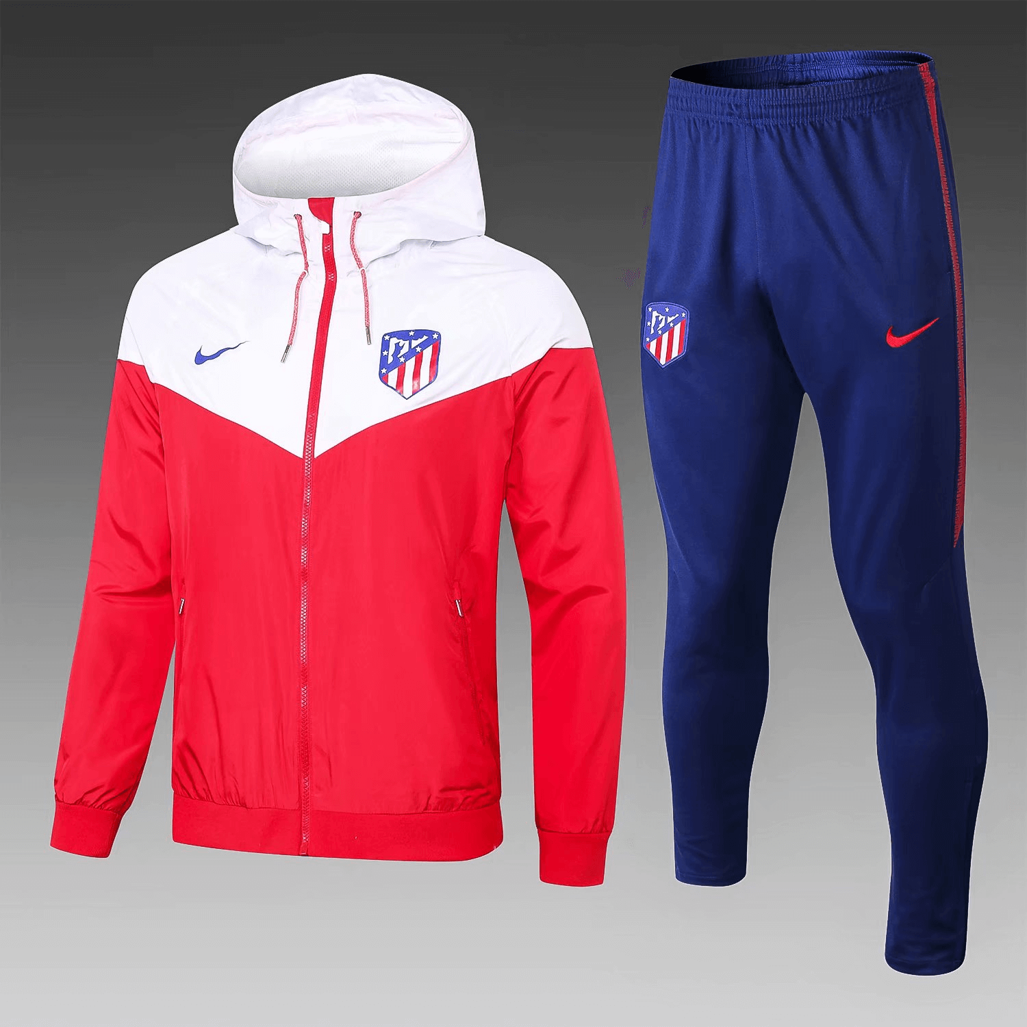 6dd68a6a6 Atletico Madrid 18 19 Red (with white) Hoodie Men Windbreaker Suit