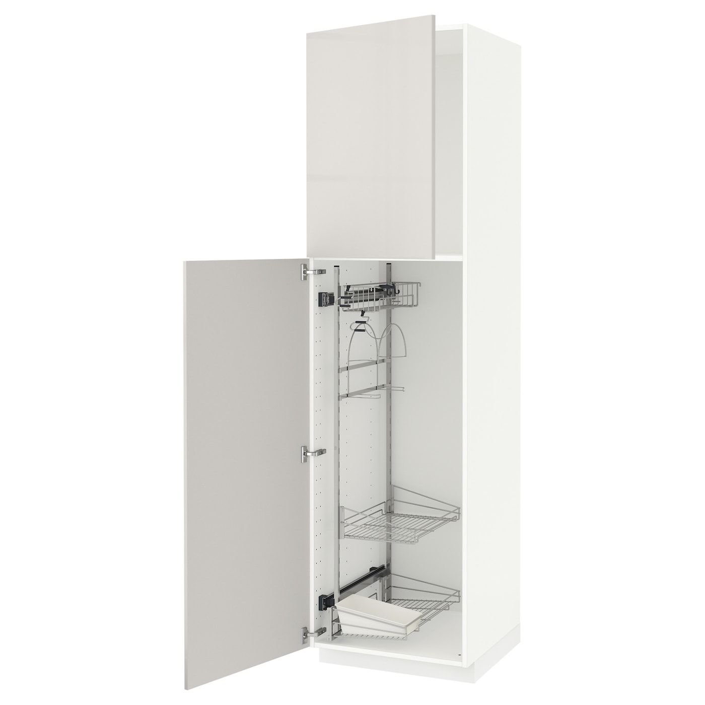 Metod High Cabinet With Cleaning Interior White Ringhult Light