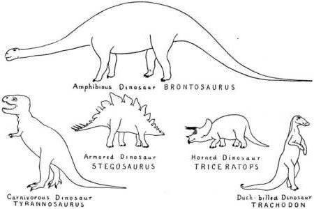 Dinosaur Coloring Pages Different Types Dinosaur