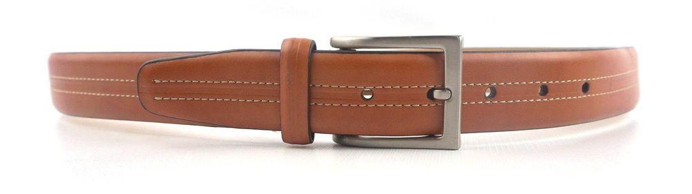 2811c23e4970 Tasso Elba Mens Size 32 Tan Italian Leather Buckle Closure Dress Belt  #TassoElba #Solid