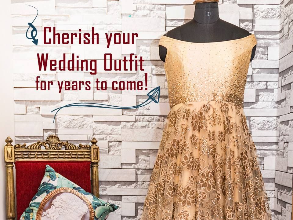 Cherish your wedding outfit for years to come with #ARYANS! Address 1: 6, Ground Floor, Shree Balaji Heights, near IDBI Bank, opp Municipal Government Quarters, Tanishq Lane, off C.G. Road, Ahmedabad. Contact: 9724316052 | 9825058088 #Fashion #Clothing #LehngaCholi #Frocks #IndoWestern #CityShorAhmedabad
