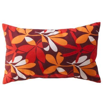 Best Room Essentials® Velvet Toss Pillow Red Botanical 12X20 400 x 300