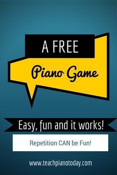via @teachpianotoday | Here\'s a simple, yet very fun game you can ...