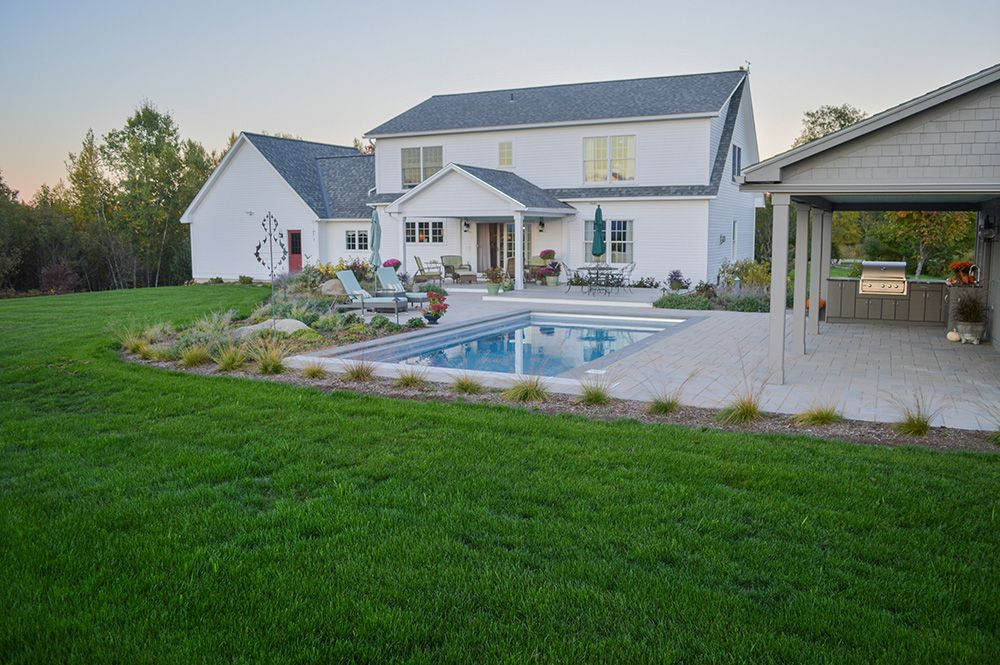 new england backyard with pool - Google Search   Backyard ...