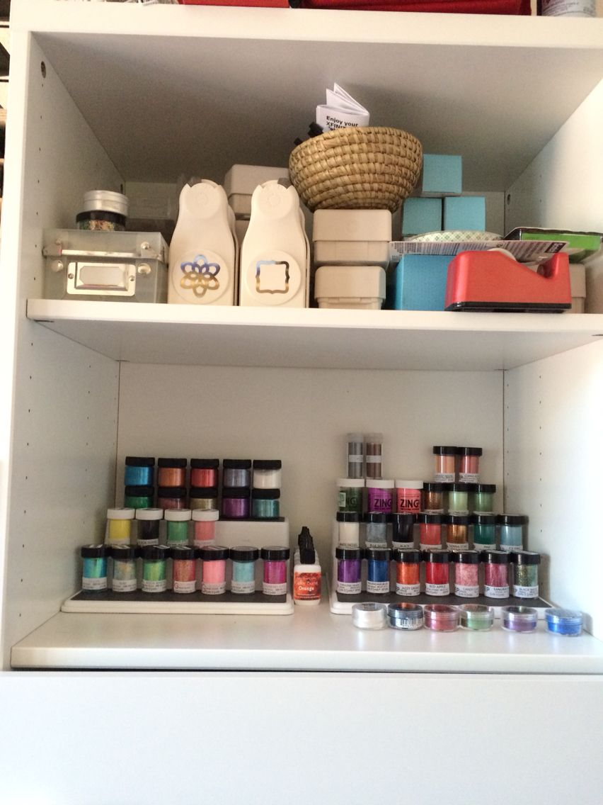 Aug. 31 -- Did some reorganizing and put my glitter front and center.