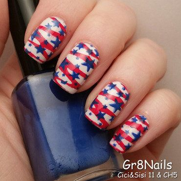 patrioticnails.quenalbertini: 4th of July nail art by Gr8Nails