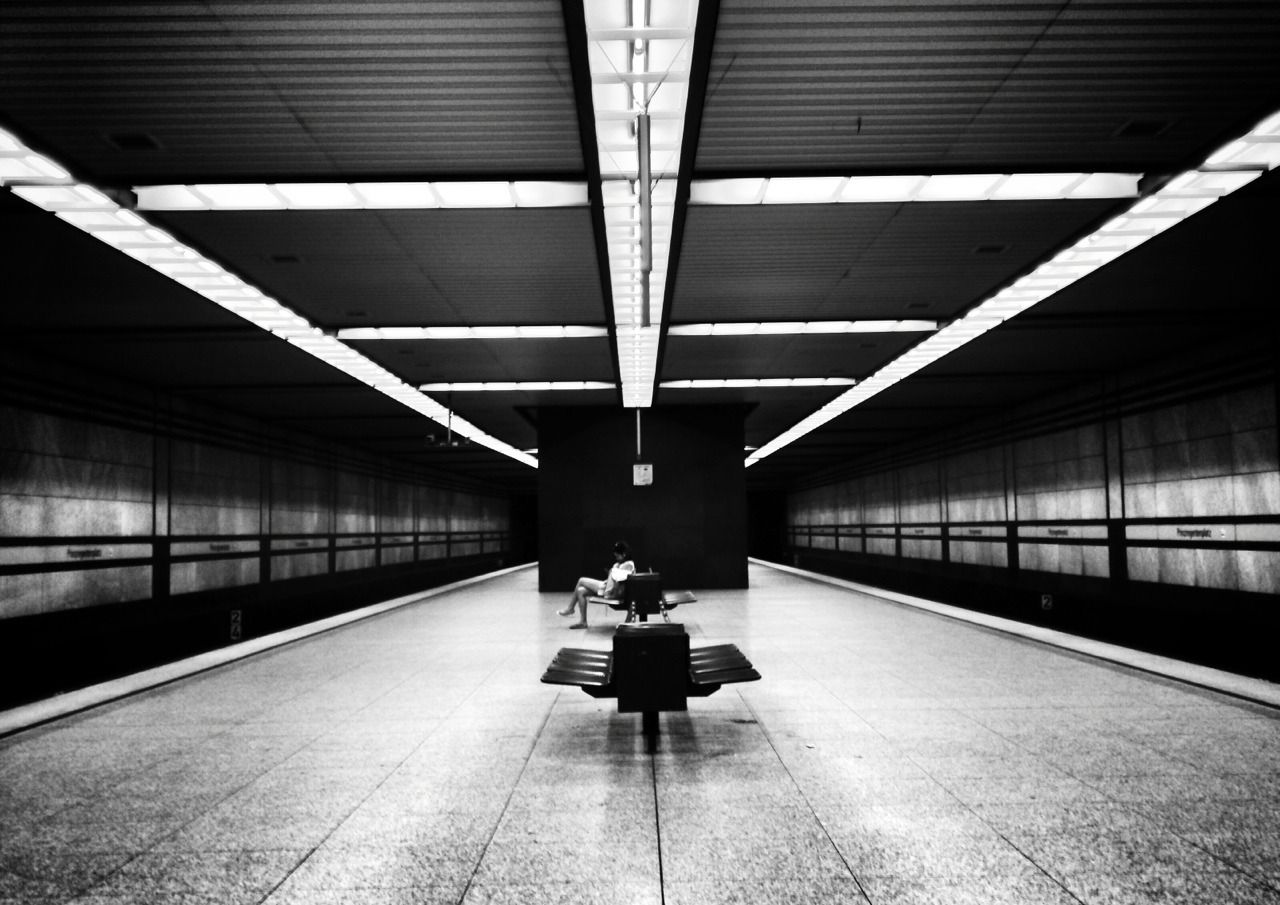 Waiting - #and #black #on #original #photographers #station #tumblr #underground #white