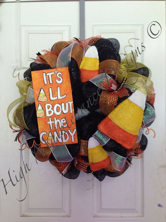 Halloween Wreath RESERVED  by HighMaintenanceDes on Etsy