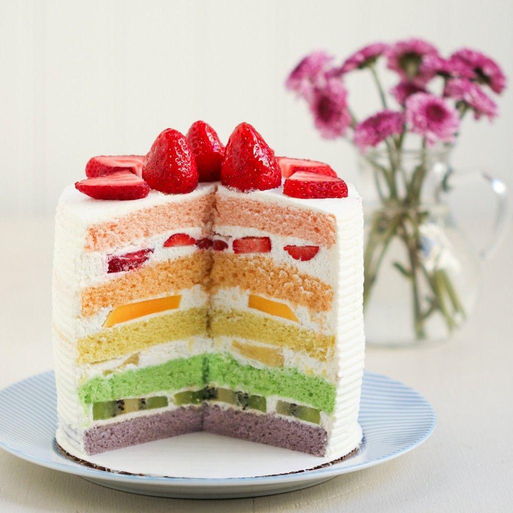 Thirsty For Tea Chinese Bakery Rainbow Cake Rainbow Cake Recipe Chinese Birthday Cake Recipe Bakery Cakes