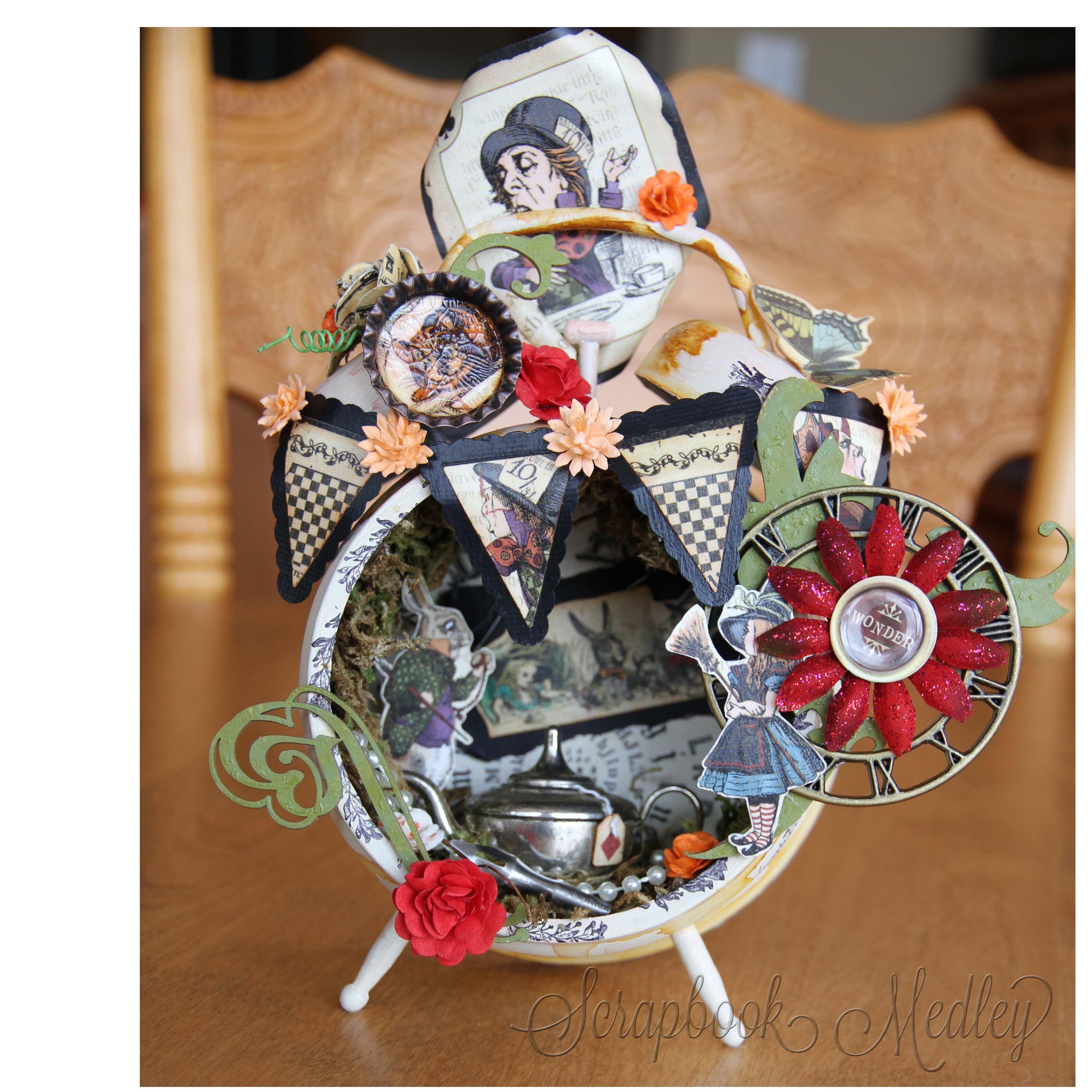 Tea Time Tim Holtz Clock - Scrapbook.com