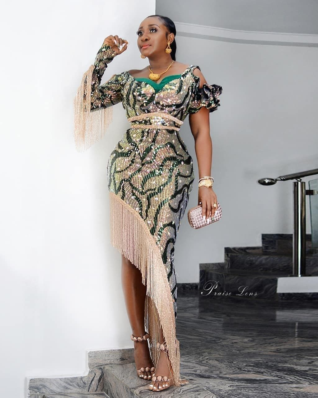 Ms Asoebi On Instagram Wedding Guest Iniedo Fabric And Outfit By Hopebykikiokewa African Print Fashion African Lace Dresses Latest African Fashion Dresses
