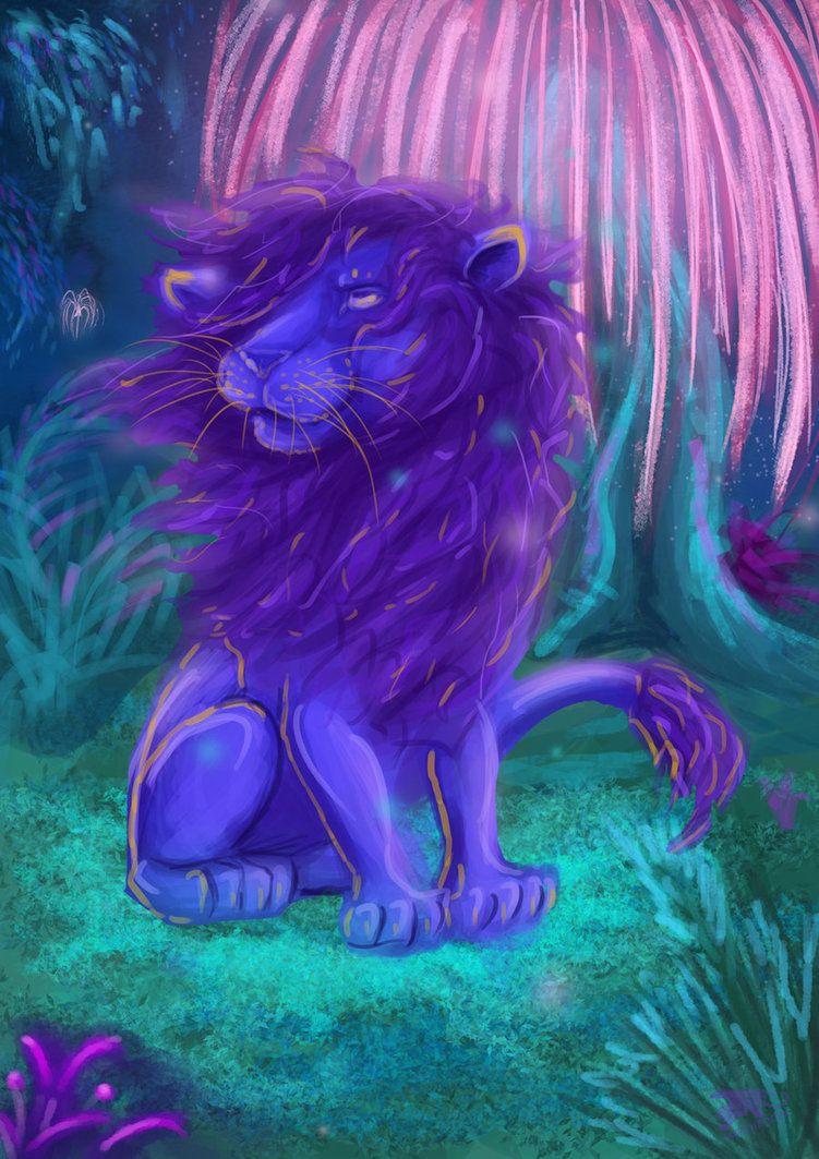 Purple Lion by JazzTheTiger on DeviantArt