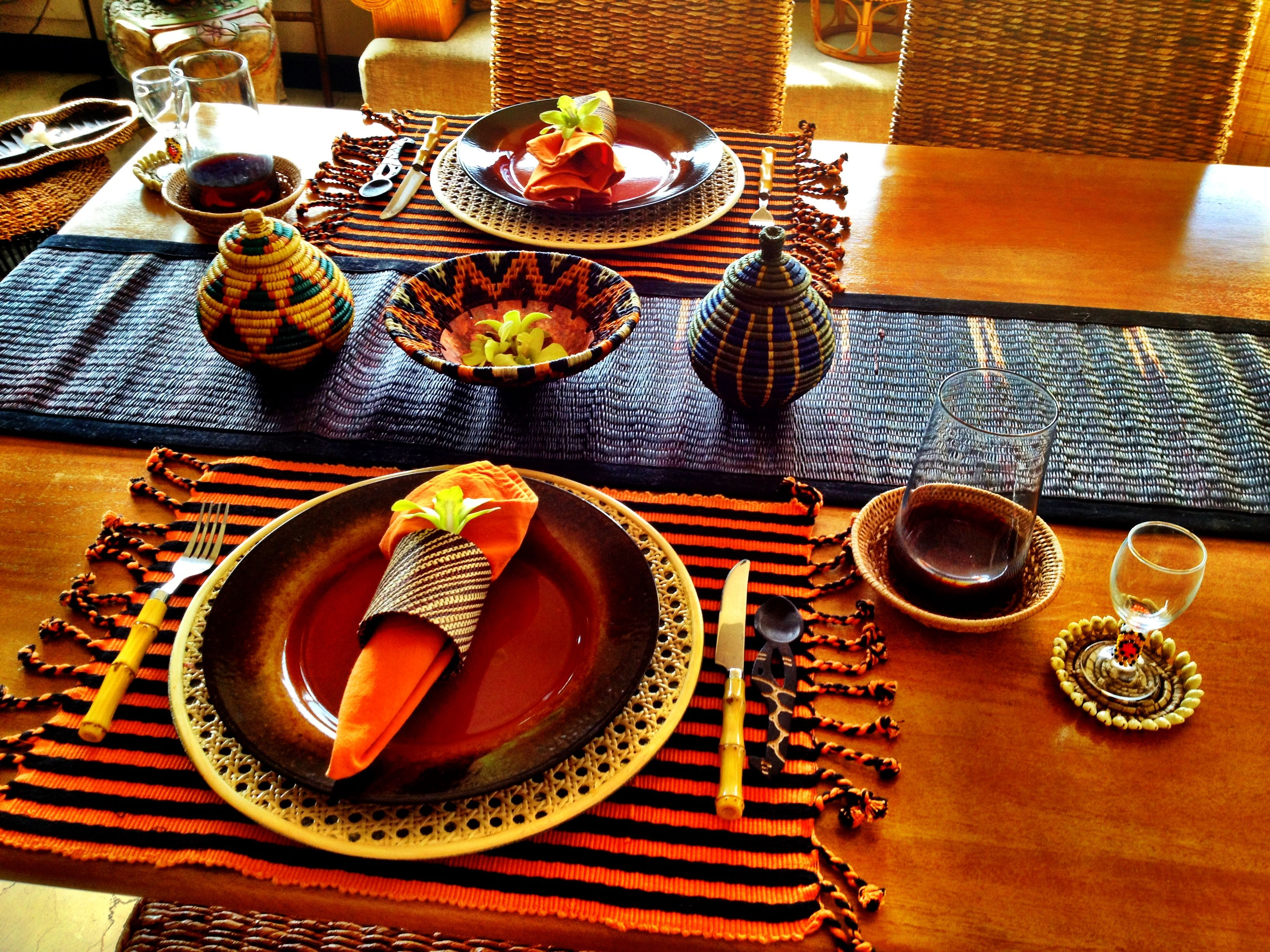My African table setting in 2019 African furniture
