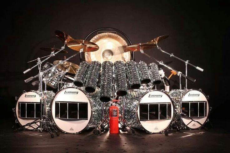 Alex Van Halen 1984 Replica Kit Put Together By A Fan Drum Kits Drums Alex Van Halen