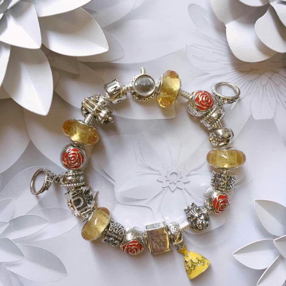 Belles Murano S From Beauty The Beast Pandora Jewelry Pretty Jewellery Disney Pandora Bracelet