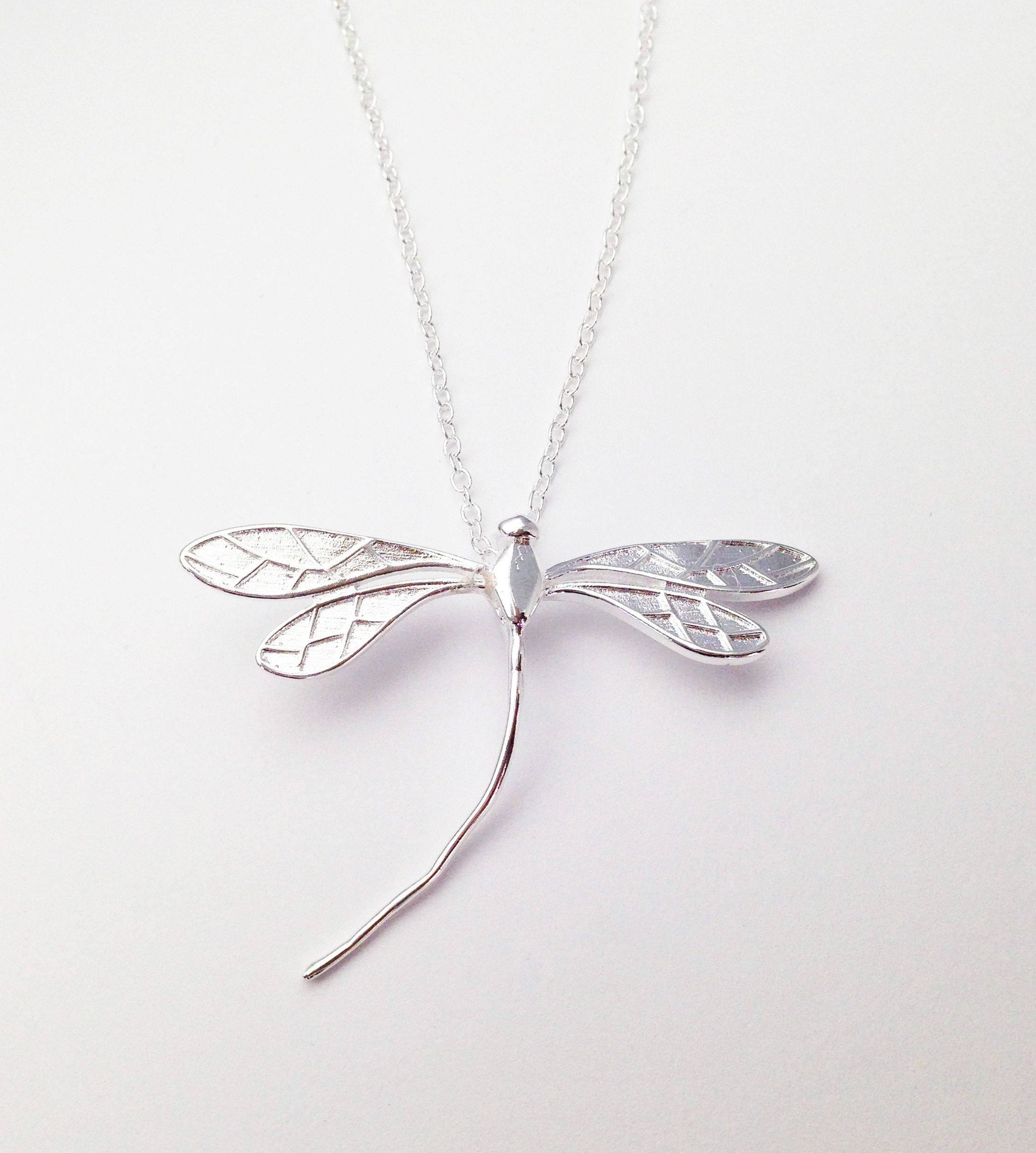 ladies silver dragonfly jewellery sterling fiorelli pendant watchshop com
